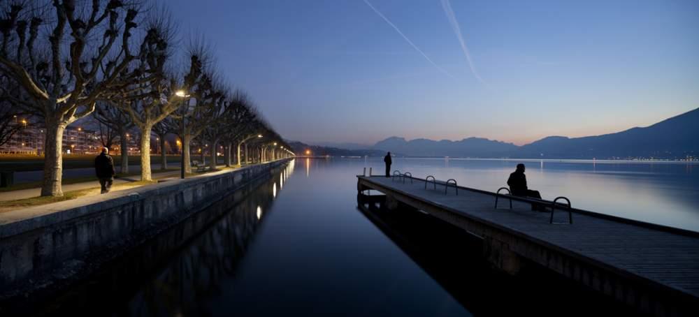 Les bord du lac du Bourget à Aix Les Bains pour Citeos