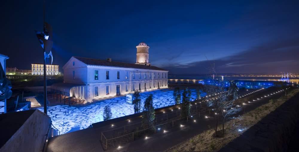 Fort Saint-Jean à Marseille pour Citeos - Conception lumière L'Agence Lumière