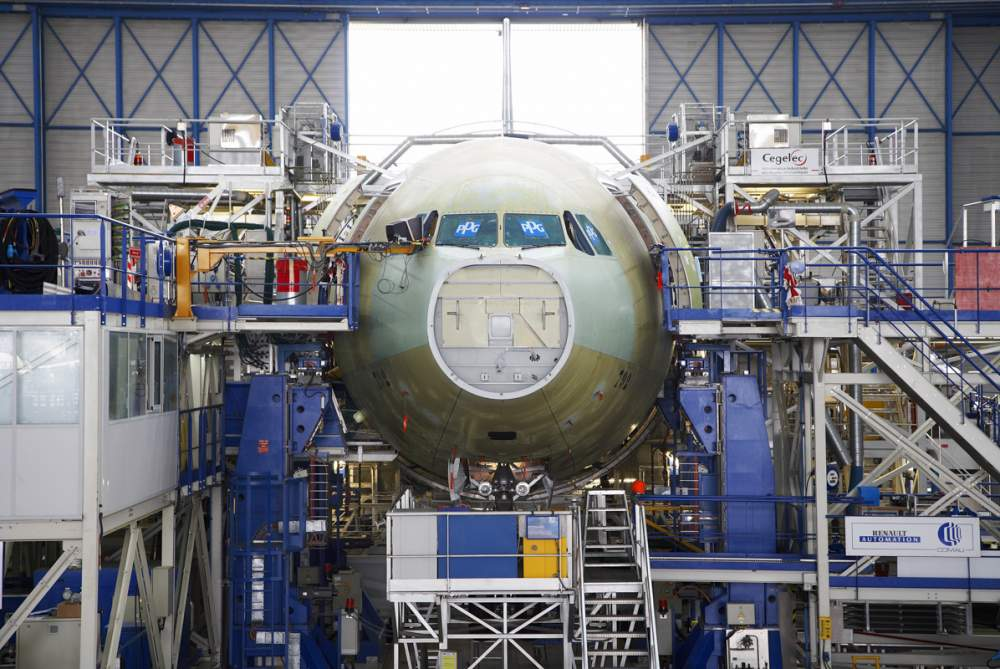 Chaine de montage A330 chez Airbus