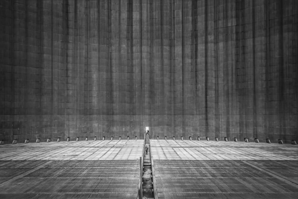 Intérieur de la tour de refroissement numéro 3 de la centrale nucléaire de Cruas Meysse pour Omexom