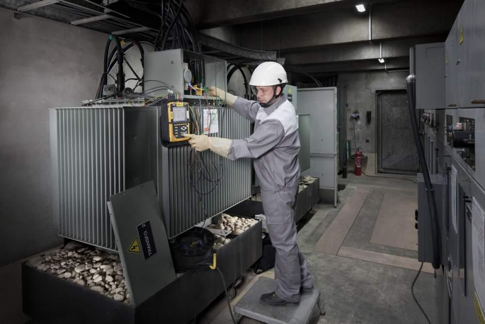 Travaux de maintenance sur poste de transformation pour Opteor