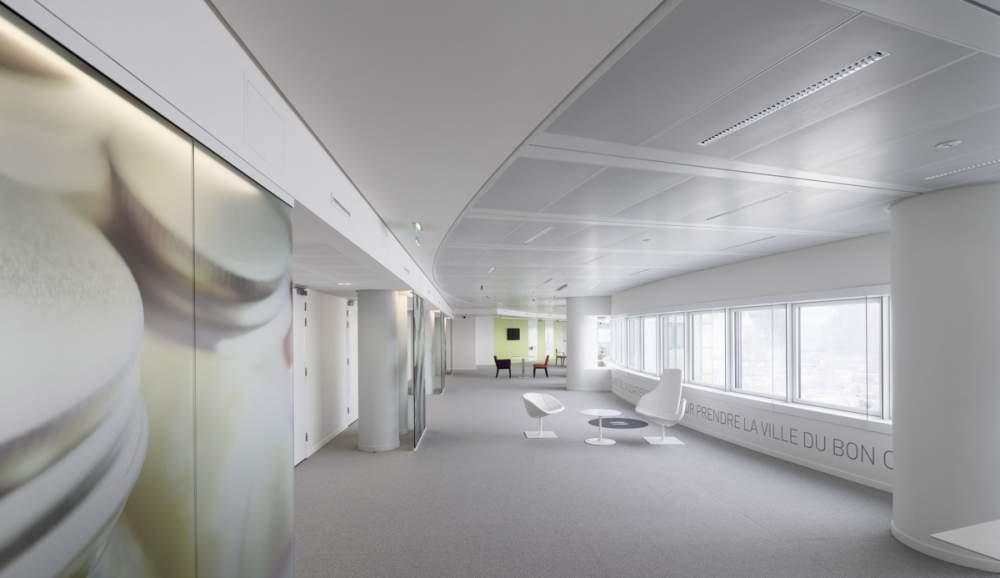Show-room de bureaux Icade à La Défense pour Philips Lighting