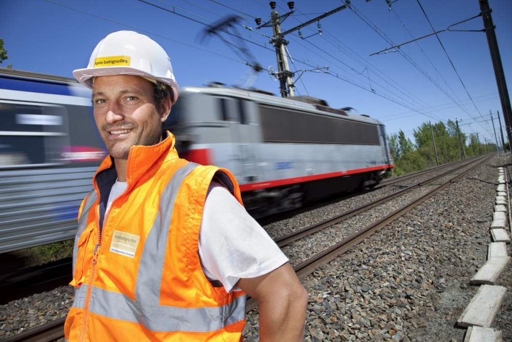 Chantier ferroviaire près de Toulouse pour Spie Batignolles Energies