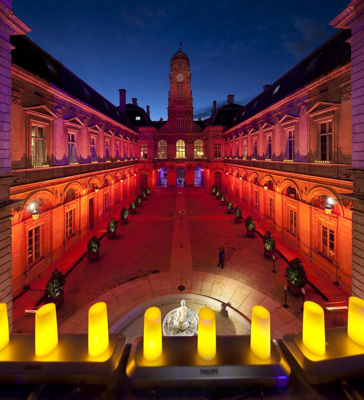 Hôtel de ville, fête des lumières à Lyon en 2010