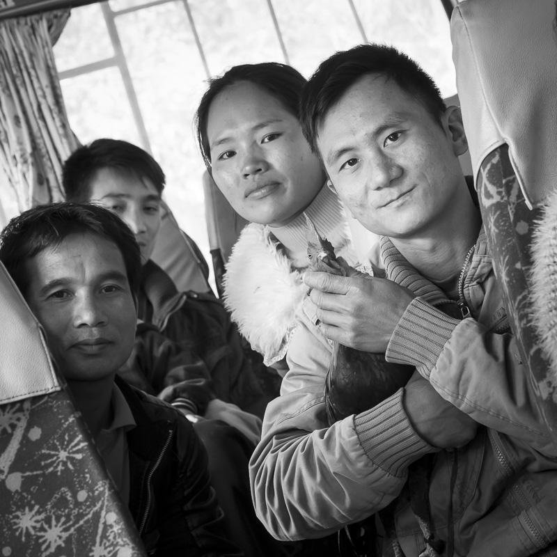 Dans le bus  à Muang Khua