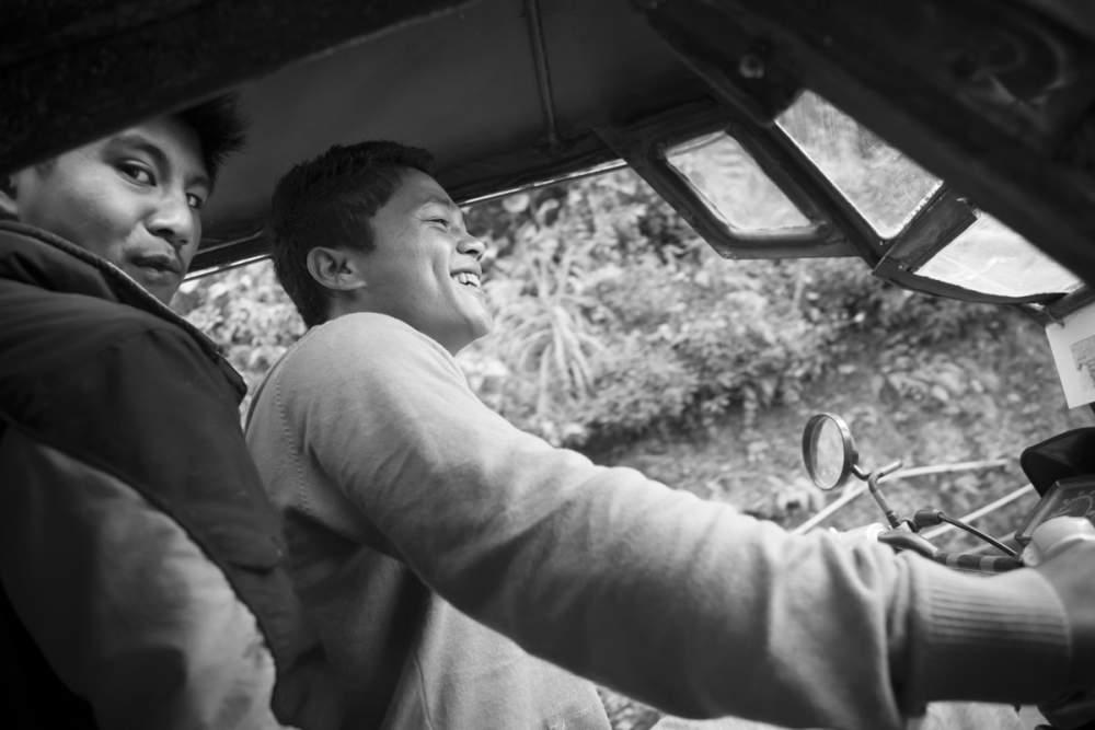 Mon chauffeur à Banaue, île de Luzon