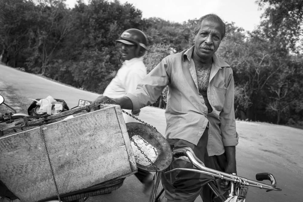 Vendeur ambulant de poisson, Sri Lanka