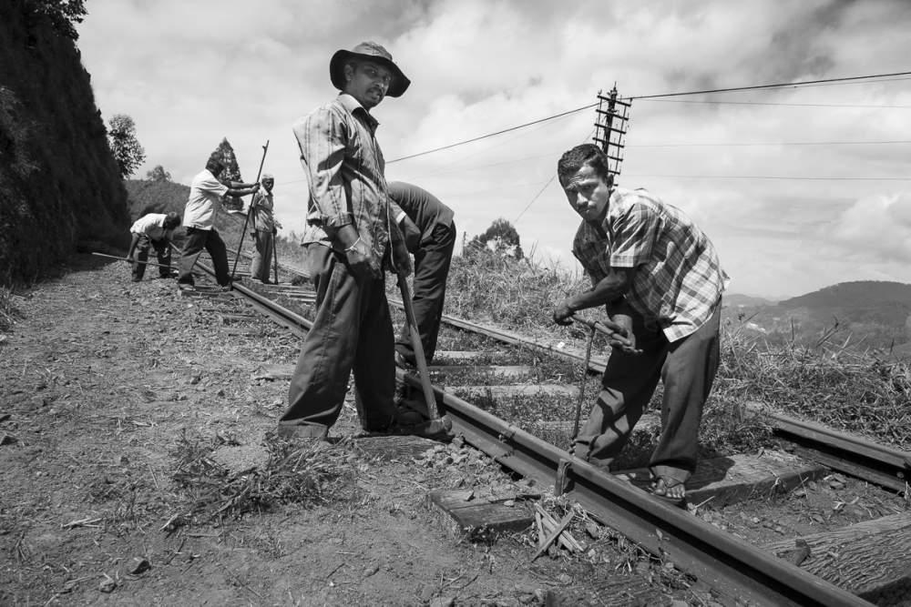 Ouvriers des chemins de fer Sri Lankais