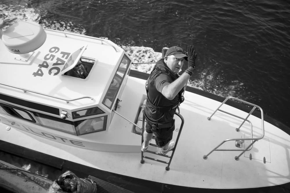 Départ du pilote du port de Bastia
