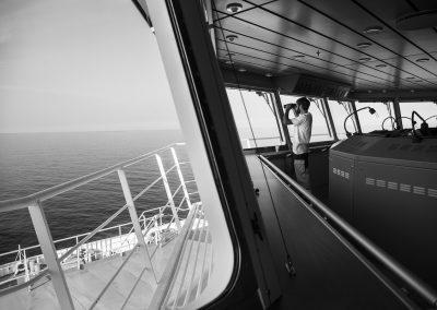Embarquement à bord du Girolata et du Piana, entre Marseille et la Corse.