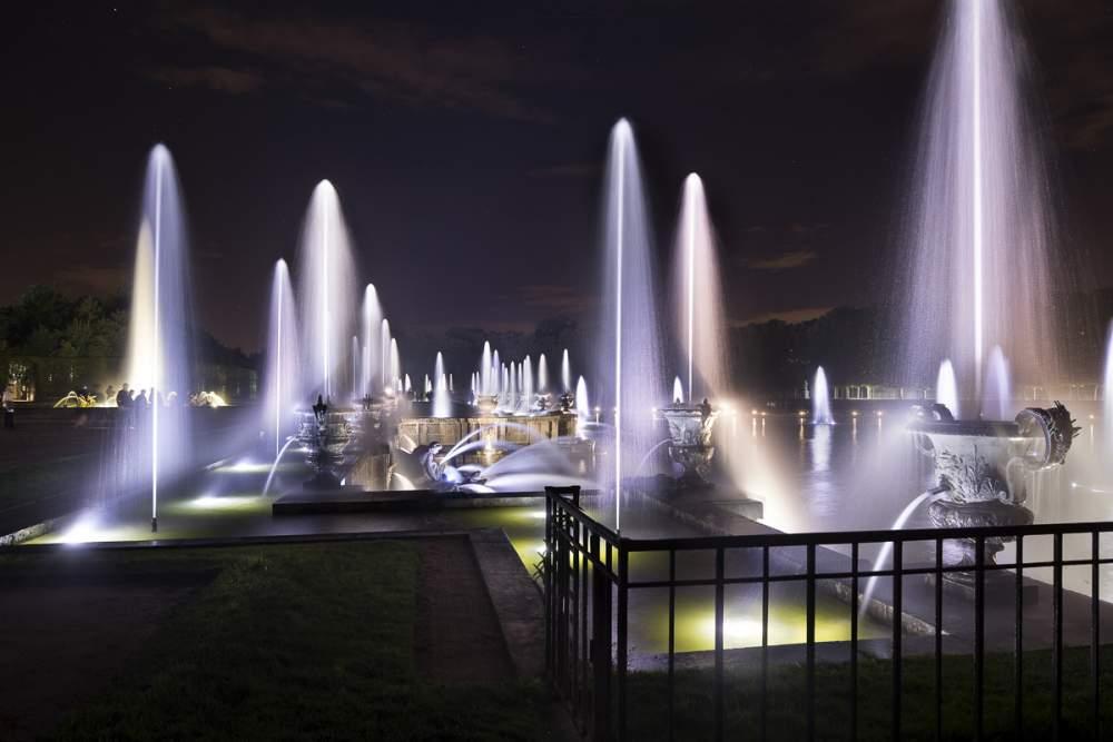 Mise en lumière fontaine de Neptune et façades du chateau de Versailles