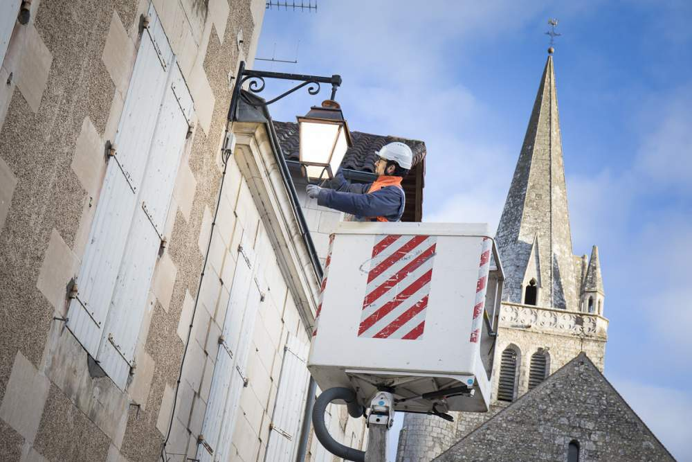 Reportage éclairage ville de Poitiers pour Citeos